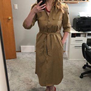 Zara military trench dress
